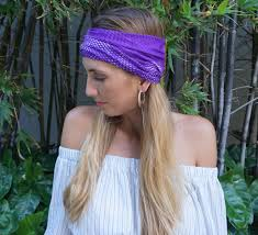 hippie headbands purple headband workout headband fitness headband