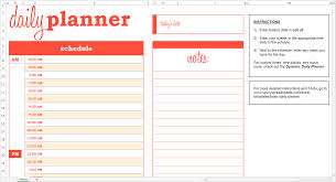 Daily Planner Template Excel Basic Daily Planner Excel Template Savvy Spreadsheets