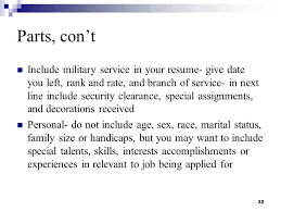 Security Clearance On Resume Resume Writing And Interviewing Skills Ppt Download