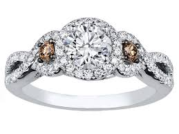 chocolate wedding rings engagement ring infinity halo chocolate diamonds engagement ring