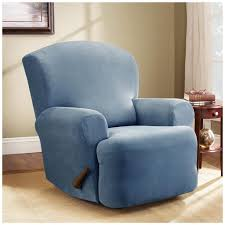 slipcovers for reclining sofa furniture stunning aqua armchair recliner slipcover appealing