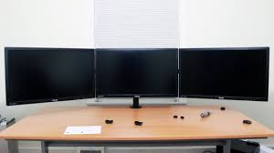 setting up my triple monitor desktop clamp youtube