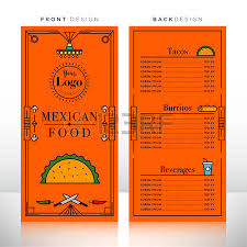mexican food menu design template royalty free cliparts vectors