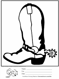 cowboy hat and boots coloring page contegri com
