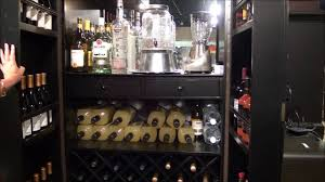 Black Bar Cabinet Sambuca Black Wine U0026 Bar Cabinet By Howard Miller Youtube