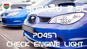 subaru check engine light cruise flashing p0457 subaru fix how to fix check engine light evap problem