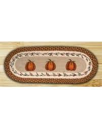 48 inch table runner amazing deal on earth rugs 64 222 oval braided printed table runner