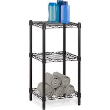 Metal Wire Storage Shelves Honey Can Do 3 Tier Storage Rack Wire Shelving Unit Black