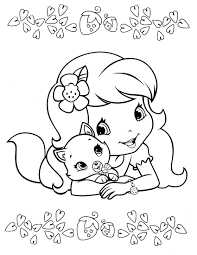 strawberry shortcake coloring page get coloring pages