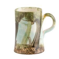 handmade mug wildwood hand painted at ralph jandrell pottery