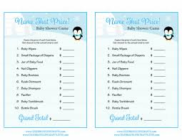 name that price baby shower game winter baby shower theme for