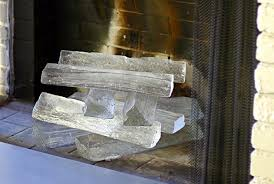 jeff benroth u0027s glass logs for hearths and tables l a at home