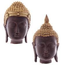 Decorative Buddha Head Brown U0026 Gold Thai Buddha Head 9 10 5cm 10966 Puckator