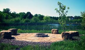 rustic landscaping ideas landscape rustic with built in gas fire