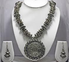metal necklace set images Buy mela oxidised metal necklace set online craftsvilla jpg