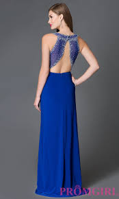 Cobalt B by Blue Open Back Cobalt Blue Prom Dress Promgirl