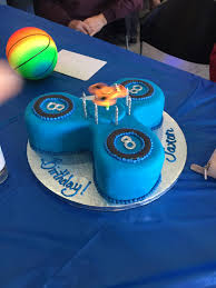 my sons fidget spinner cake at least he can eat the bearings