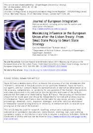 maximizing influence in the european union after the lisbon treaty