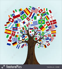 Countries Of The World Flags Illustration Of Flags Of The World Tree