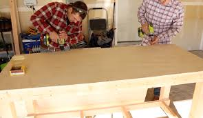 Woodworking Workbench Top Material by Diy Simple Workbench Project Woodworking Bench