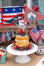 red white u0026 blue patriotic first birthday party blå