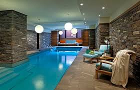 Indoor Pool Design Designs Ideas Tropical Indoor Swimming Pool With Natural Stone