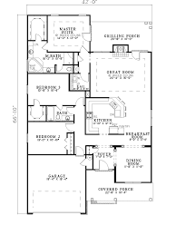 Craftsman Ranch Floor Plans Homey Ideas Floor Plan For Narrow House 4 Lot Designs Craftsman