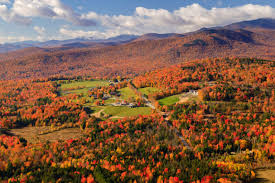 Vermont travel articles images Aerial view of fall foliage in stowe vermont fall favorites jpg