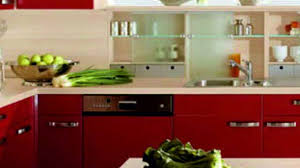 Red Kitchens With White Cabinets Yellow Kitchen With White Cabinets White Wooden Countertop Green