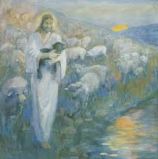 christ rescue of the lost lamb