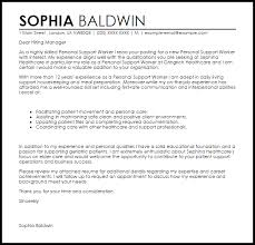 collection of solutions sample cover letter for support worker job