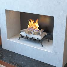 18 inch birch convert to ethanol fireplace log set with burner