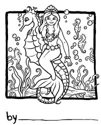 seahorse coloring pages getcoloringpages