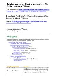 download solution manual for effective management 7th edition by