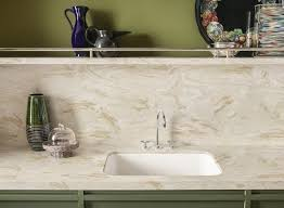 Corian For Kitchen Countertops DuPont Corian Solid Surfaces - Kitchen counter with sink