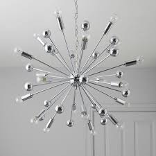 komet spherule chrome effect 20 lamp pendant ceiling light
