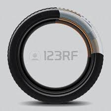 drawing of a car tire on a white background royalty free cliparts