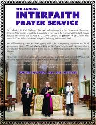catholic prayer thanksgiving 3rd annual catholic diocese of cheyenne interfaith prayer service