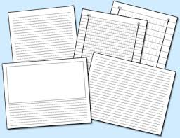 printable horizontal lined writing paper do2learn educational resources for special needs