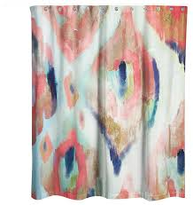 Coral And Navy Curtains Projects Inspiration Navy And Coral Shower Curtain Ikat