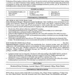 Sample Resume For Mechanical Technician by Mechanical Engineering Resume Sample Resume Cover Letter Template