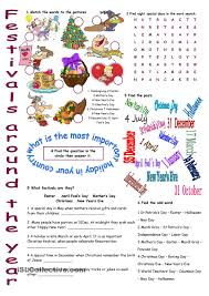 thanksgiving festivals festivals around the year vocabulary exercises vocabulary