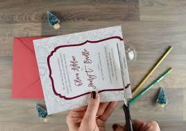 diy wedding invitation how to make a diy christmas ornament with your wedding invitation