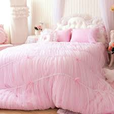 Girls Pink Bed by Sisbay Fancy Girls Bedding Set Pink Luxury Princess Ruffle Duvet