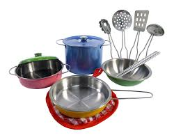 Metal Playsets Amazon Com Liberty Imports Colorful Metal Pots And Pans Kitchen