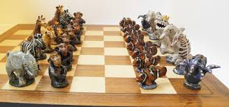 Ceramic Chess Set Kathryn Chase Jungle V Aquatic Chess Set Artprize Entry