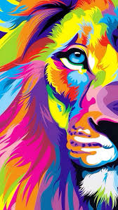 leeuw koning van de jungle graffiti kunst spray verf op doek
