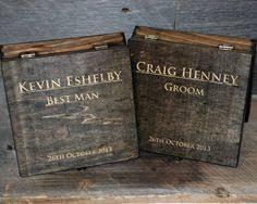 Wooden Groomsmen Gifts Groomsmen Gift Engraved Cigar Box Monogram Personalized Engraved