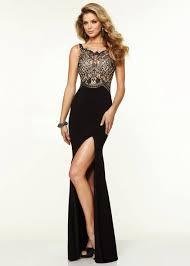 dress black gold lace slit prom prom dress gold dress