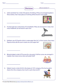 division math problems division word problems worksheets